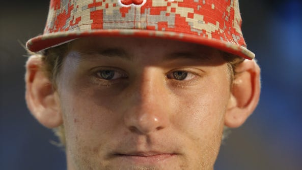 File - Los Angeles Angels' 2015 first round draft pick,