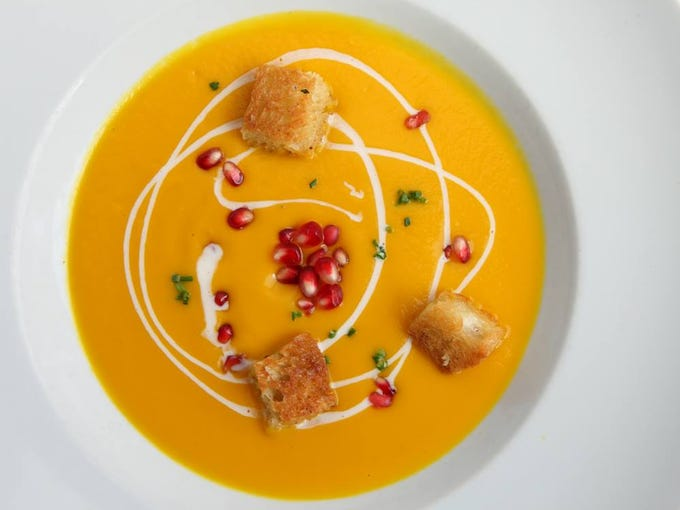 Chef Aaron Chamberlin's rich and velvety pumpkin soup