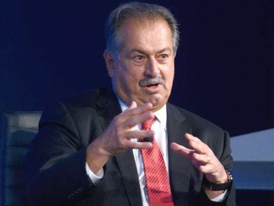 President, Chairman and Chief Executive Officer of The Dow Chemical Company Andrew Liveris speaks during the 2015 Concordia Summit at Grand Hyatt New York on October 1, 2015 in New York City.