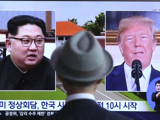 Donald Trump. Kim Jong Un