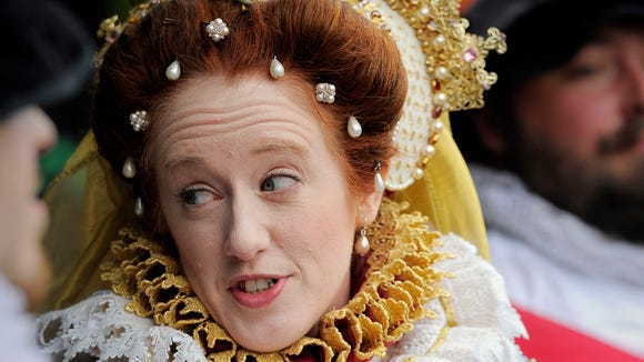 Queen Elizabeth was present at all of the important functions at last year's Tennessee Renaissance Festival.