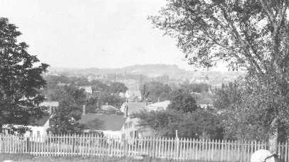 A view of Dover from Pine Hill Cemetery in this undated image from Dover Public Library archives.
