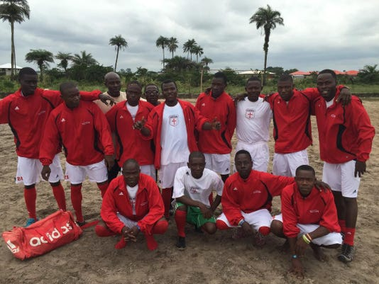 St  Henry students donate uniforms to Liberian team