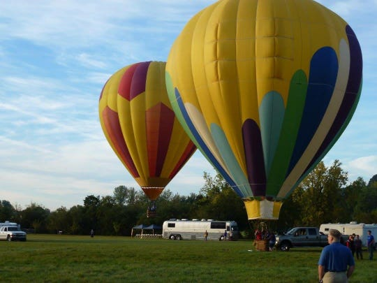 Valley View Air Show & Concerts features hot air balloons taking off at daybreak, a car show, remote controlled aircraft, horse and wagon rides, kid games and bouncy house along with gospel and bluegrass music concerts 8 a.m. to 9 p.m. Aug. 12 at Rock of Ages/Valley View Retirement Community in McMinnville. Free.