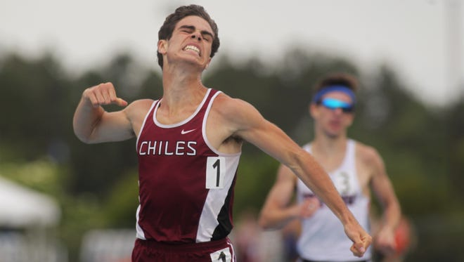 Chiles senior Michael Phillips captured a 1600-meter state title to go with his 3200 win at the 2018 FHSAA Track & Field State Championships.