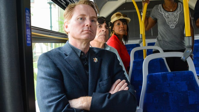 Nathan Norris, DDS  attending the Bus tour  hosted by Councilman Pat Lewis to identify areas of opportunity throughout District 3.