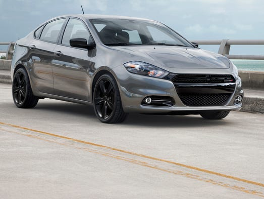 Dodge Dart Blacktop comes in silver, among other colors, but with black wheels and other black features