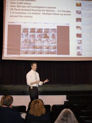 Special Agent Fetting speaking to parents at Fairview