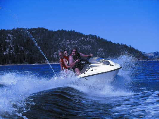 Jet ski on Big Bear Lake, photo courtesy of Tim Wolcott (2)