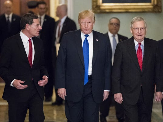 Donald Trump, John Barrasso, Mitch McConnell