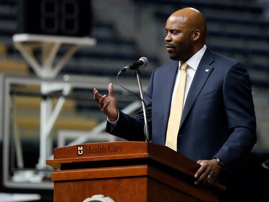 Cuonzo Martin speaks after being introduced as Missouri