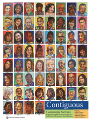 A poster of York artist Ophelia Chambliss' 'Contiguous'