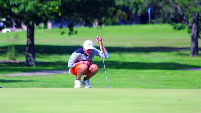 Macomb's Connor Hamm eyes a putt during a round last fall.