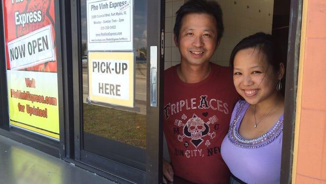 Tammy Tran and Joseph Vu are closing Pho Vinh Express.