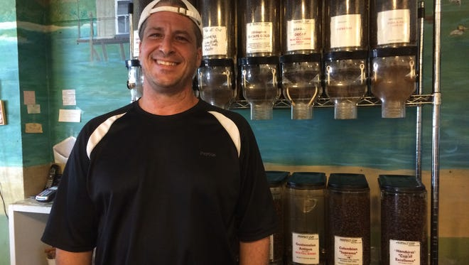 Whitney Brown, a chef, techie and coffee obsessive, opened the Perfect Cup on Matlacha in 2007. He roasts coffee beans there daily and cooks a full menu of breakfast-lunch dishes.