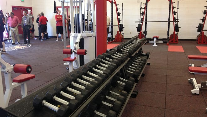 The new fitness facility includes equipment from Chaparral's old weight room and will be available to all students and staff, not just athletes.
