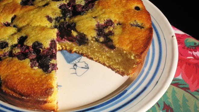 Blueberry-Lemon Cornmeal Cake has a tangy finish with a toothsome crumb.