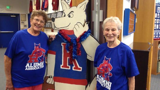 Reno High School Alumni Association members Betty Jo Baker, left, and Gloria Garaventa, both from the class of 1951, are helping organize the school's 7th Triennia All-Alumni Reunion on Aug. 17.