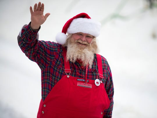 David Fisher, a Santa from Morgantown, W.Va., wins
