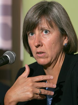 Morgan Stanley's Global Internet Strategist Mary Meeker speaks to reporters about Chinese Internet companies Thursday, September 15, 2005 during a briefing in Hong Kong, China. Photographer: Dennis Owen/Bloomberg News ORG XMIT: BUDGET 9/15/05