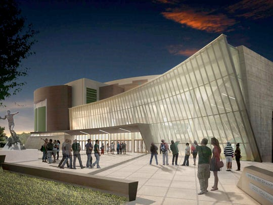 Rendering of a new addition and renovation of the Breslin