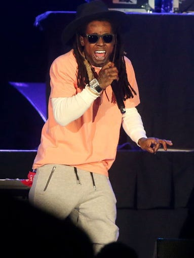 Lil Wayne performs during the The Dedication Tour on Sunday, Jan. 24, 2016, at the American Bank Center in Corpus Christi.