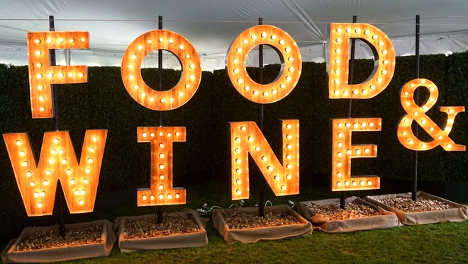 The Food & Wine sign at the 2018 Food & Wine Classic in Aspen.
