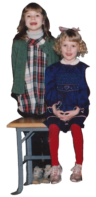 Katie and Tiffany in first grade. (Photo: Katie McGarry)