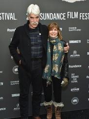 Sam Elliott and Katharine Ross attend the premiere