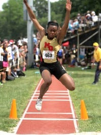 Mount Olive senior Keturah Orji won the long and triple jumps at the NJSIAA Meet of Champions. Mike DeSocio/Staff Photographer