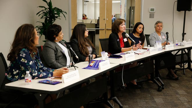 Wise Latina International held the Latina Game Changers: Strength, Power and Influence Through Politics Forum on Friday morning. Former County Judge Veronica Escobar, El Paso County Attorney Jo Anne Bernal, state Rep. Mary González, state Rep. Lina Ortega, city Rep. Claudia Ordaz-Perez and Las Cruces Board of Education President Maria Flores spoke to the group. More than 50 women attended the forum, which featured keynote speakers Irasema Coronado, Ph.D., and Christine M. Sierra, Ph.D.