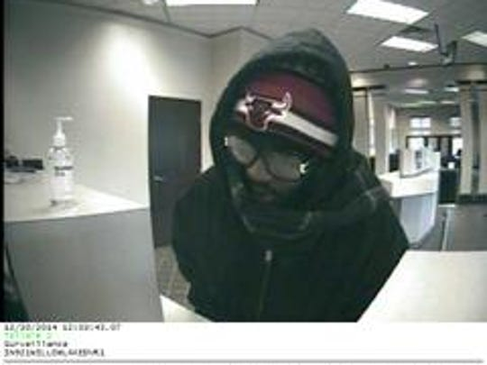 A man suspected of robbing a Key Bank in the 2400 block of Lake Circle Drive, near 86th Street and Township Line Road, on Tuesday.
