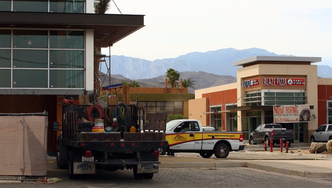 Blaze Pizza and other businesses are under construction at El Paseo Square in Palm Desert, Calif. on Tuesday, April 5, 2016. The shopping center features a Jamba Juice, The Habit Burger Gill, and Saks OFF 5th among other businesses.