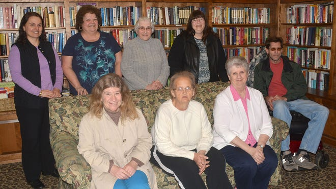 New SpiriTrust Lutheran Senior Companion Program volunteers are shown here, following SpiriTrust Lutheran Senior Companion Program training. Pictured in the first row, from left, are: Dawn Frey, Scelenia Cramer, and Patricia Gordon. Pictured in the second row, from left, are: Lambrini Nauss, Linda Peters, Faye Kline, Lydia Hoeck, and Daniel Hinrichs.
