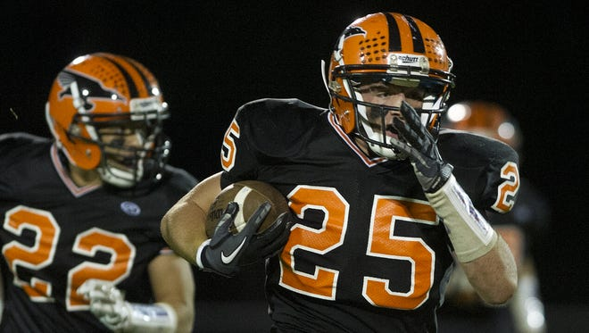 Bryce Huettner is part of a Iola-Scandinavia team which is ranked No. 10 in the Small Division in the first Associated Press prep football poll of the season.