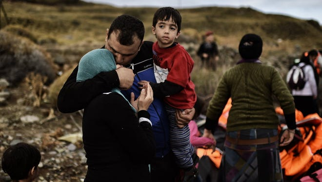 Syrian refugees in Lesbos, Greece, on Sept. 29, 2015.