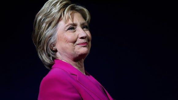 Democratic presidential candidate former Secretary
