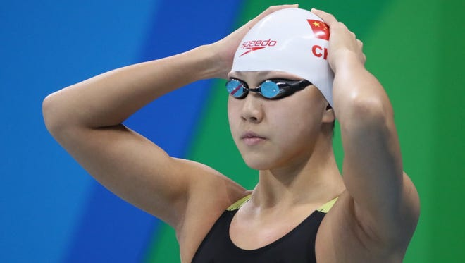 A report Thursday said Xinyi Chen of China tested positive for a banned substance before she went to Rio de Janeiro for the Olympics.