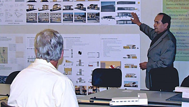 Instructor Luis Rios teaches architecture at Doña Ana Community College.