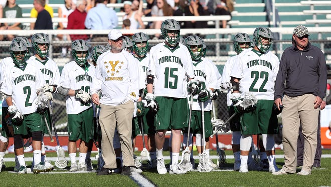 Yorktown defeated Somers 11-3 in a  lacrosse game at Yorktown High School April 19, 2016.