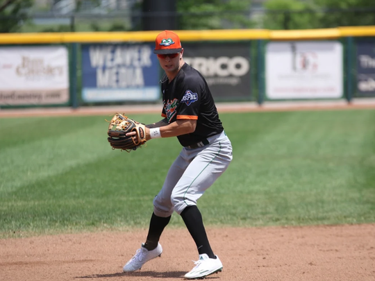 Kevin Whatley plays infield for the Eastside Diamond Hoppers of the USPBL.
