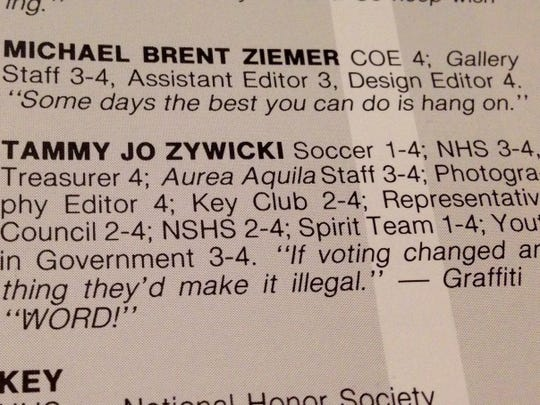 Tammy Zywicki wanted to be a Spanish teacher at a small college, and perhaps one day work for a professional sports team. This is her blurb from her high school yearbook.