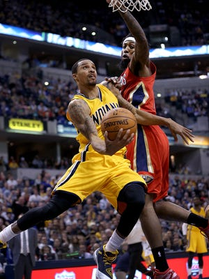 George Hill returned to the court Tuesday after missing the Pacers' first 28 games this season.