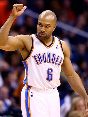 Thunder guard Derek Fisher has said he'll retire after this season.