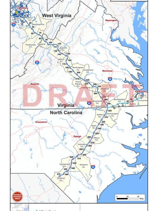 Atlantic Coast Pipeline route