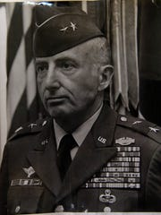 Copy of Photo of John Cleland as Commanding General of the 8th Infantry Division, Germany in 1976.