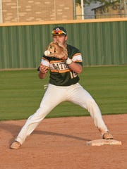 Captain Shreve's Reid DuBois gets the force out at