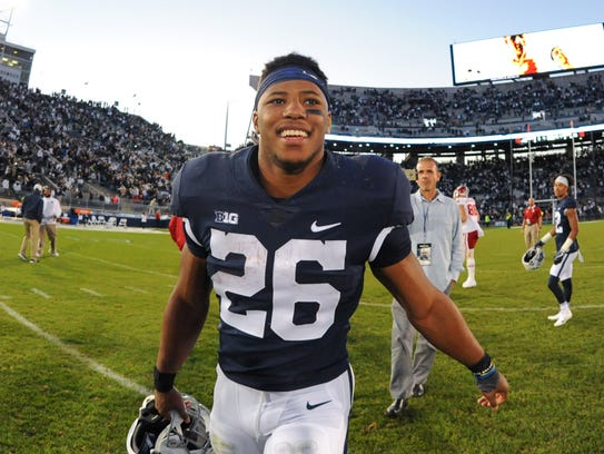 The New York Giants have selected Penn State running back Saquon Barkley with the No. 2 pick Thursday night.
