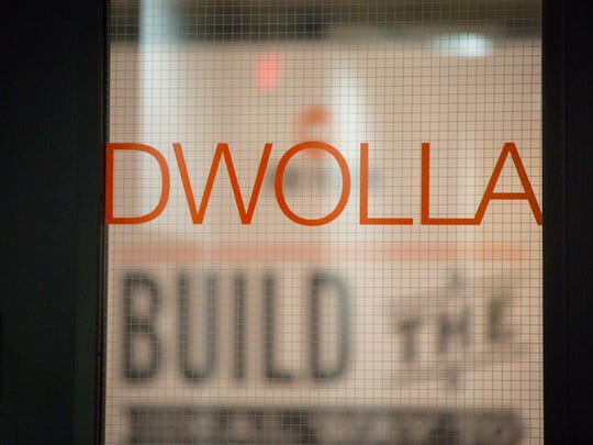View through the front door during Dwolla's hackathon Wednesday, Jan. 25, 2017, in their Des Moines' office, where staff members pitch various ideas for projects and new ideas to finish in a short time.