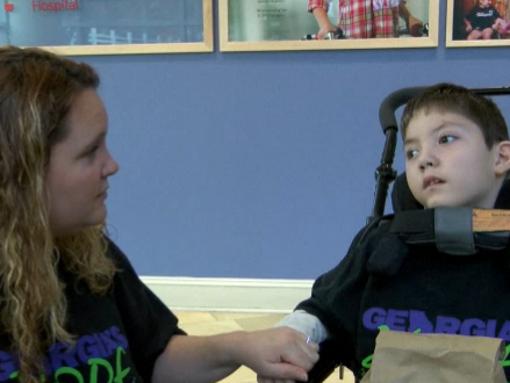 Augusta boy receives cannabis oil treatment.